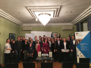 Participants of the second part of the forum at the kick-off event at the Embassy of Ukraine in Berlin, 8 February 2018. © The German-Ukrainian Academic Society.